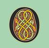 Celtic Anfangsbuchstaben O mit Serpentin Knoten