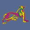 Ornamental Anfangsbuchstaben als Löwe
