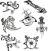 Set Tribal Tattoo Schablonen mit Klingen