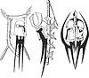Tattoo Skizzen von teutonischen Kreuzfahrer Schilde und