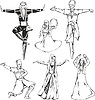 Kaukasischen Hochländer Tänzer in Trachten
