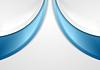 Vektor Cliparts: Abstrakt blau und grau gewellten Hintergrund
