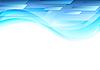 Vektor Cliparts: Abstrakte blaue Wellenlinie Tech-geometrischen Hintergrund