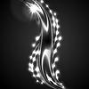 Vektor Cliparts: Glühendes weißes Silber Welle