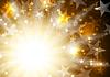 Vektor Cliparts: Orange leuchtende goldenen Hintergrund mit Sternen und
