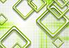 Vektor Cliparts: Abstrakte grüne Quadrate Tech-Grunge-Hintergrund