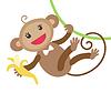 Niedlichen Affen mit Bananen