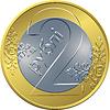 Reverse neue Rubel-Münze Belarusian Geld zwei