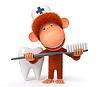 3d monkey Arzt | Stock Illustration