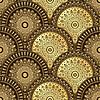 Векторный клипарт: Золото и коричневый бесшовные модели
