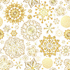 Vektor Cliparts: Winter-nahtlose Muster mit Gold Schneeflocken