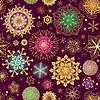 Vektor Cliparts: Lila Weihnachten nahtlose Muster mit bunten