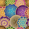 Vektor Cliparts: Jahrgang nahtlose Muster mit bunten Gradienten