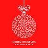 Vektor Cliparts: Weihnachtsschneeflocke-Kugel