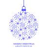 Vektor Cliparts: Weihnachtskugel von blauen Schneeflocken