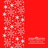 Vektor Cliparts: Weihnachten weißen Schneeflocken vertikale Design