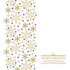 Vektor Cliparts: Weihnachten gold Schneeflocken vertikale Design
