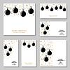 Vektor Cliparts: Weihnachten Gold Kugeln und Schneeflocken-Karte und