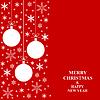 Vektor Cliparts: Weihnachten weißen Schneeflocken und Bälle Karte vertikale