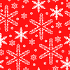 Vektor Cliparts: Weihnachten rot Schneeflocken-Muster nahtlose