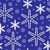 Vektor Cliparts: Weihnachten blaue Schneeflocken-Muster nahtlose