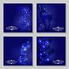 Vektor Cliparts: Weihnachten blauen Hintergrund Set