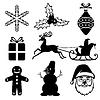 Vektor Cliparts: Weihnachten Icon Set