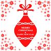 Vektor Cliparts: Weihnachtsgruß rotem Flitter