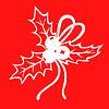 Vektor Cliparts: Weihnachten Holly rot Strauß