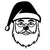 Vektor Cliparts: Weihnachtsmann-Gesicht