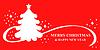 Vektor Cliparts: Weihnachten Tanne rot Grußkarte