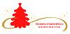 Vektor Cliparts: Tanne Weihnachten Grußkarte