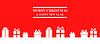 Vektor Cliparts: Gruß Weihnachten Banner mit Geschenken