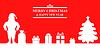 Vektor Cliparts: Gruß Weihnachten Hintergrund mit Santa, Tanne und