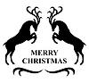 Vektor Cliparts: Frohe Weihnachten Hirsch Karte