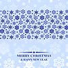 Vektor Cliparts: Weihnachten blaue Schneeflocken-Karte