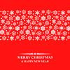 Vektor Cliparts: Weihnachten Schneeflocken-Karte