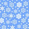 Vektor Cliparts: Weihnachten Schneeflocken-Muster nahtlose