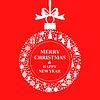 Vektor Cliparts: Weihnachtsgrußkarte Ball