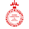 Vektor Cliparts: Weihnachtsgrußkarte rote Kugel