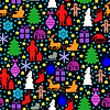 Vektor Cliparts: Weihnachten Mehrfarbenmuster nahtlos