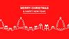 Vektor Cliparts: Gruß Kontur Weihnachten Banner mit Tanne und Geschenke