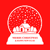 Vektor Cliparts: Glas Weihnachtskugel auf rotem Hintergrund