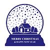 Vektor Cliparts: Glas Weihnachtskugel