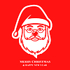 Vektor Cliparts: Weihnachtsmann Gesicht rot Symbol
