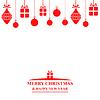 Vektor Cliparts: Weihnachts-Grußkarte mit Kugeln