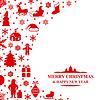 Vektor Cliparts: Weihnachtsglückwunschkarte
