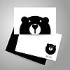 Векторный клипарт: Шаблон для животных медведь