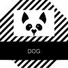 Векторный клипарт: Шаблон для животных собаки