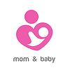 Векторный клипарт: мама и ребенок логотип идентичность